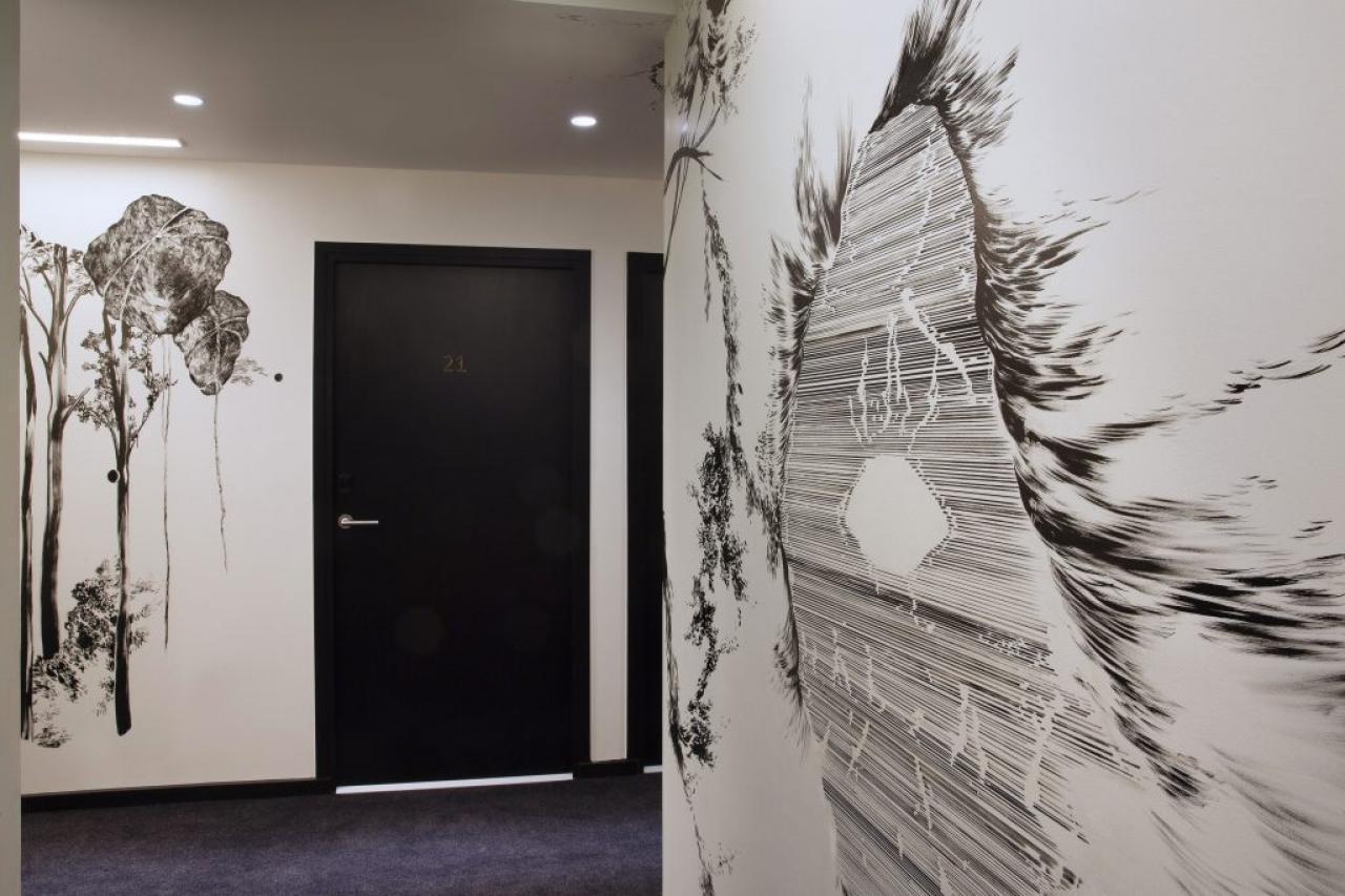 Drawing Hôtel - Couloir